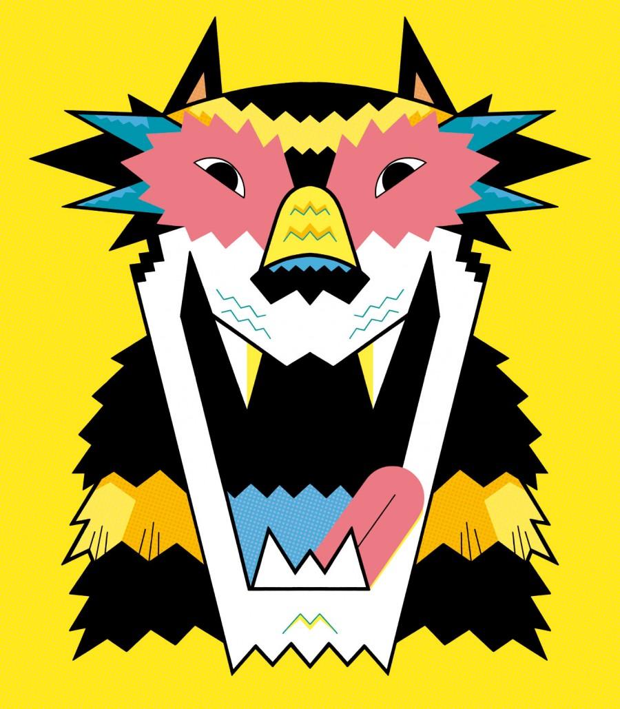 Mathieu Demore, Illustration jeunesse et Bande-dessinée Carnaval de Poitiers Affiche pour le carnaval de Poitiers 2013