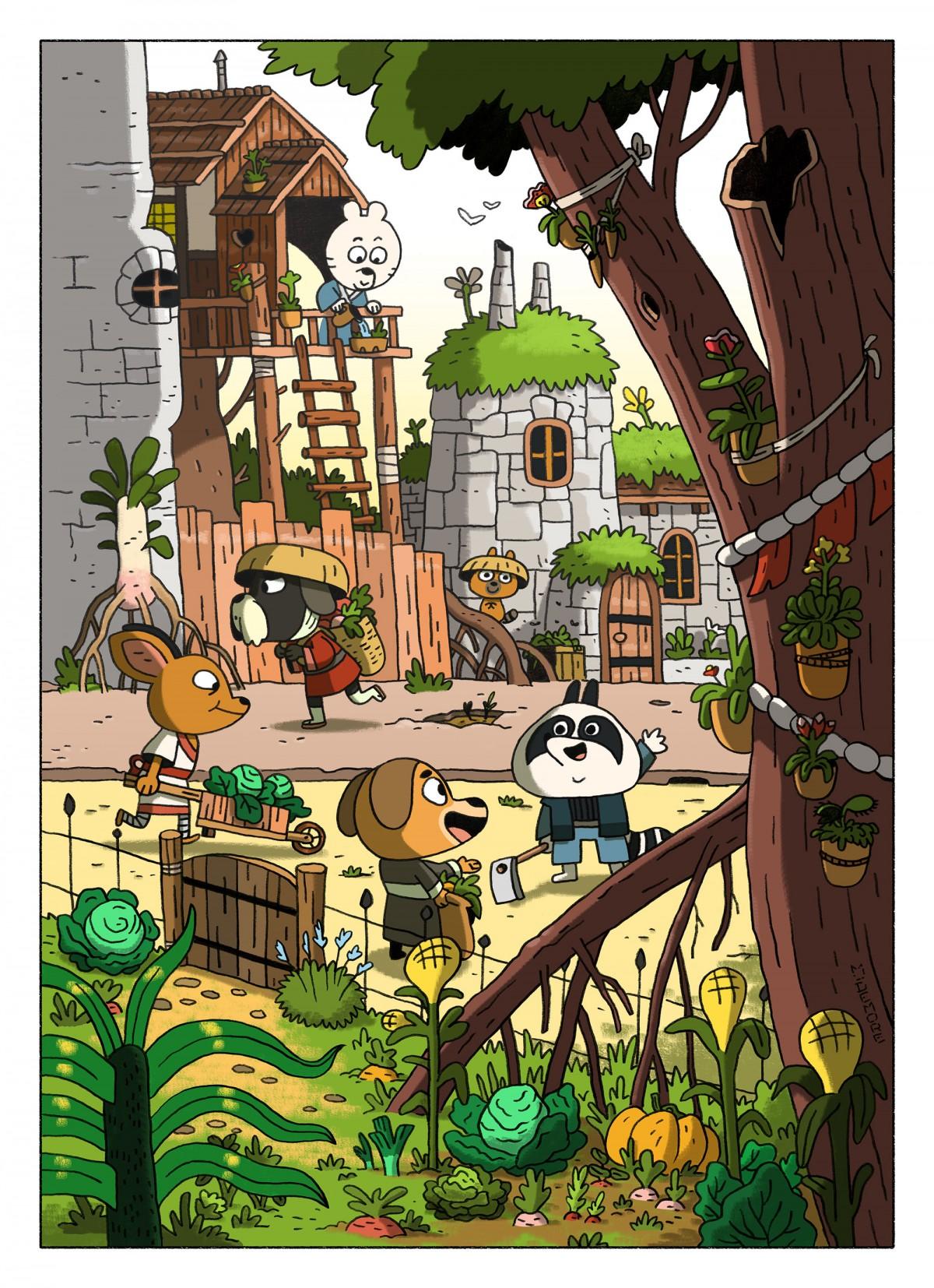 Mathieu Demore, Illustration jeunesse et Bande-dessinée Manji