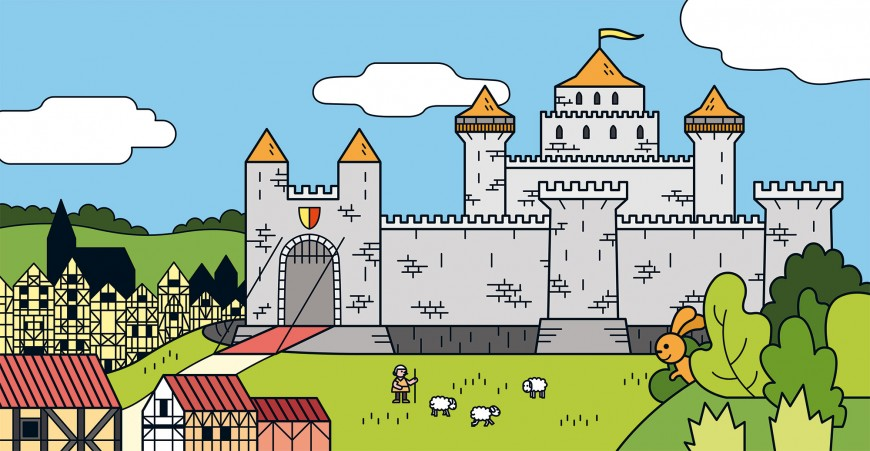 Mathieu Demore, Illustration jeunesse et Bande-dessinée Chateaux forts